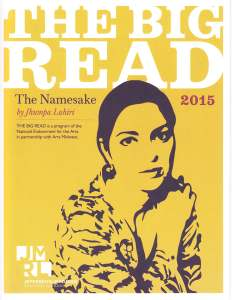 Big Read 2015 brochure cover with Jhumpa Lahiri.