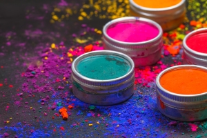 Photo of powdered Holi Festival colors.