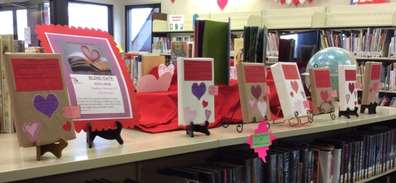 Nelson Memorial Library's Blind Date With a Book Display
