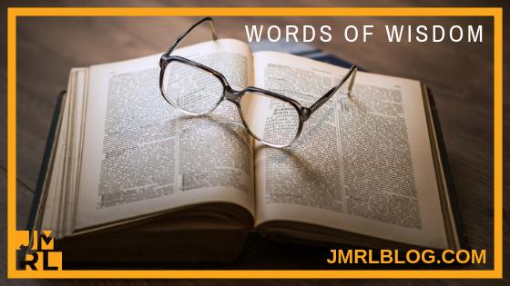Words of Wisdom - Blog Post Header